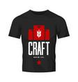 modern craft beer drink logo sign for bar shop vector image vector image