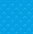 mountain pattern seamless blue vector image
