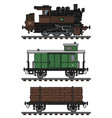 old timber steam train vector image vector image