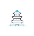pagoda linear icon concept pagoda line vector image