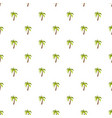 palm tree pattern seamless vector image vector image