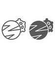 planets line and glyph icon space and astronomy vector image vector image