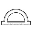 protractor icon outline style vector image vector image