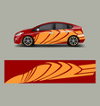 racing car wrap abstract strip shapes for car vector image vector image