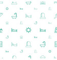 room icons pattern seamless white background vector image vector image