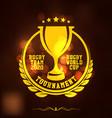 rugtournament logo sport vector image vector image