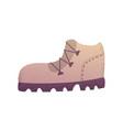 sand trekking boot vector image vector image
