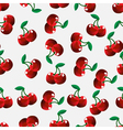 seamless cherry background vector image vector image