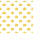 Seashell pattern cartoon style vector image