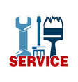 service sign with tool vector image