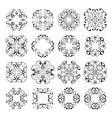 set collections of ornamental lacy designs vector image