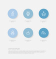 set of 6 editable cleanup outline icons includes vector image vector image
