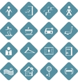 set of flat information symbols of sport center vector image vector image