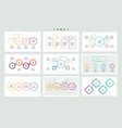 set of infographic elements presentations graphs vector image vector image