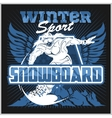 Snowboard - winter sport stock vector image