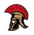 spartan helmet design elements for emblem sign vector image vector image