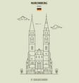 st sebaldus church in nuremberg vector image vector image