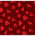 Stock seamless of winter and Christmas vector image vector image