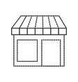 store grocery shop building exterior facade vector image vector image
