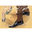 tango dancers feet vector image
