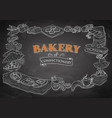 template different types bakery item for vector image vector image