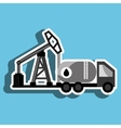 truck with petroleum isolated icon design vector image vector image