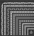 unique corner borders and frames on chalkboard vector image vector image