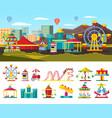 urban amusement park concept vector image