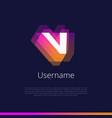 v-monogram-logo vector image