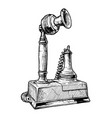 vintage candlestick telephone vector image