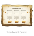wooden game ui vector image