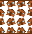 wooden house camping seamless pattern image vector image