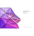 3d geometric polygon with molecule structure vector image vector image