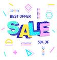 3d word sale vector image