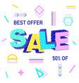 3d word sale vector image vector image