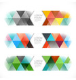 abstract colorful geometric template and modern vector image vector image