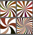 Abstract spiral and starburst background set vector image vector image