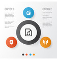 audio icons set collection of meloman file vector image vector image