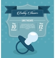 Baby Shower design pacifier icon Blue vector image vector image