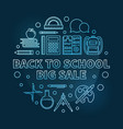 back to school big sale blue round thin vector image vector image