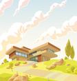 Beautiful Modern Villa vector image vector image