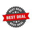 best deal round isolated ribbon label best deal vector image vector image