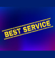 best service scratched stamp seal on gradient vector image vector image