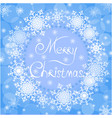 blue christmas card background snowflakes vector image vector image