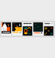 brutalism shapes posters abstract contemporary vector image