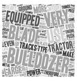 Bulldozer text background wordcloud concept vector image vector image