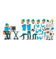 business man worker character working male vector image vector image