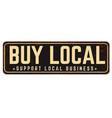 buy local vintage rusty metal sign vector image vector image