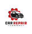 car repair shop logo vector image