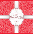 card with red indian paisley pattern vector image vector image